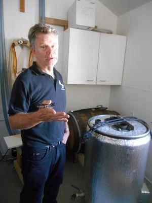 Owner Bruce Olson in his distillery