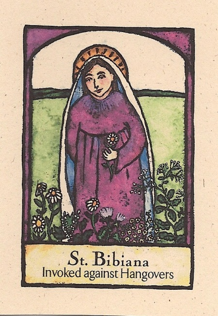 Saint Bibiana with her magic herbs
